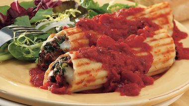 Spinach Pesto Manicotti