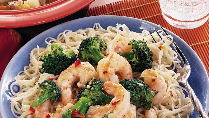 Shrimp and Broccoli Lo Mein