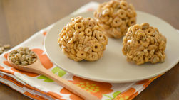 Honey, Peanut Butter and Sunflower Seed Cereal Bars