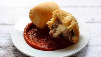 Crescent-Wrapped Cheesy Meatballs
