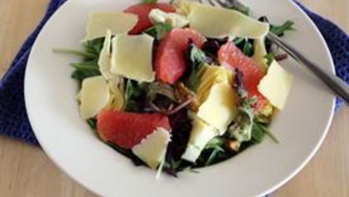 Grapefruit, Walnut and Artichoke Salad with Citrus Vinaigrette