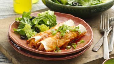 Easy Creamy Chicken Enchiladas