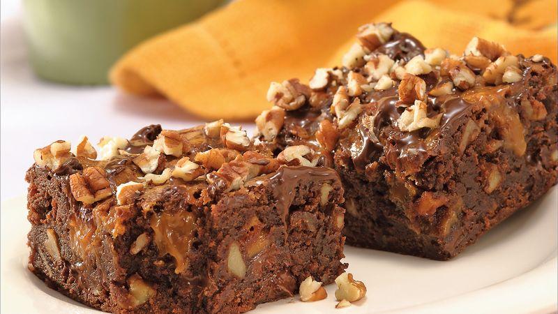 Double Chocolate-Caramel-Fudge Brownies