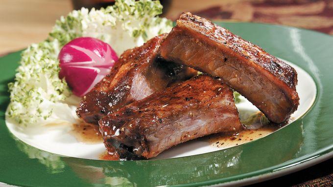 Pork Riblets with Honey-Pepper Glaze