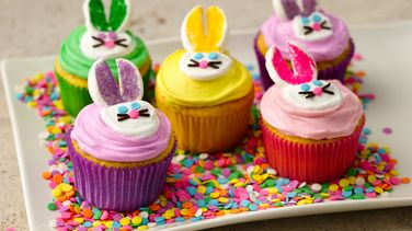 Colorful Bunny Cupcakes