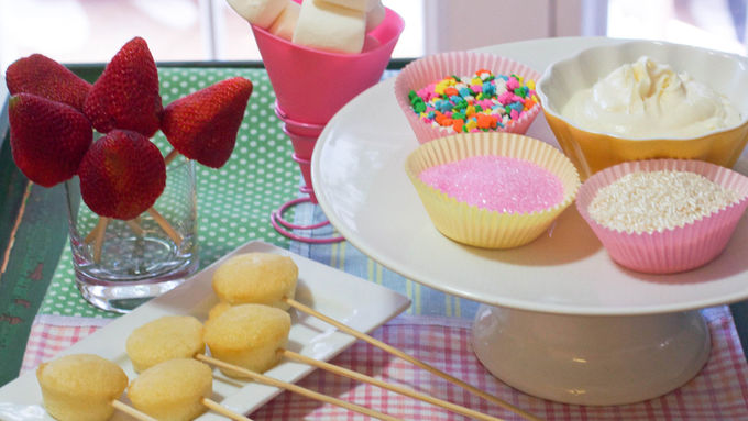Orange-Scented Pound Cake and Frosting Fondue