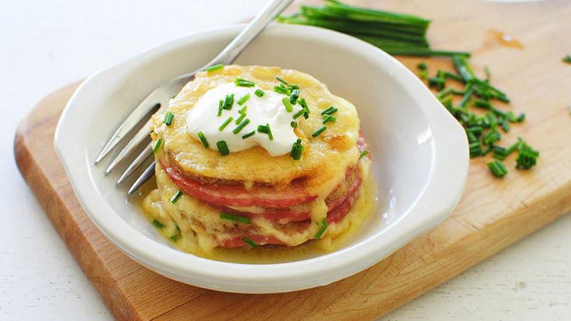 Cheesy Potato Stackers