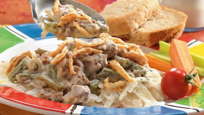 Slow-Cooker Meat and Potato Casserole