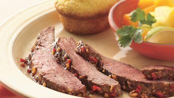 Grilled Jerk Flank Steak