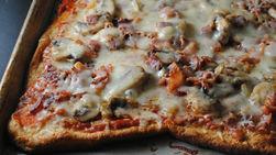 Three Cheese, Bacon and Mushroom Pizza