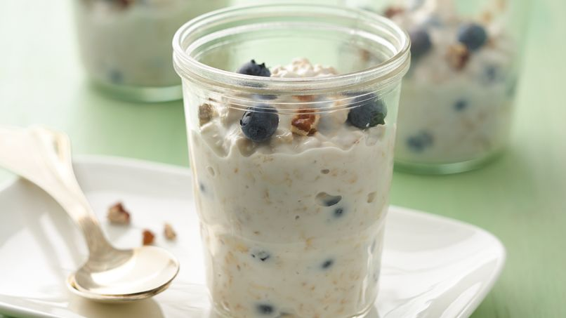 Blueberry Maple Overnight Oatmeal