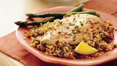 Chicken with Orange-Pecan Rice
