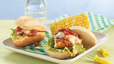 Grilled Chicken Sandwiches with Chipotle Mayonnaise