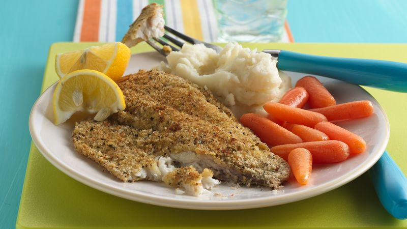 Crispy oven baked fish recipe from betty crocker for How to make breaded fish