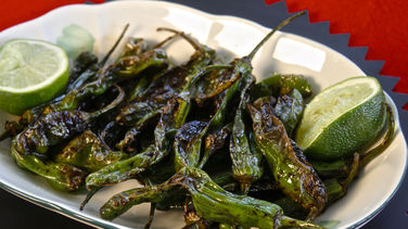 Blistered Shishito Peppers with Soy Sauce and Lime
