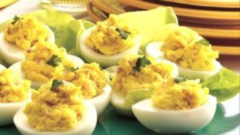 Relish and Ham Deviled Eggs