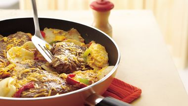 Cheesy Steak and Potato Skillet