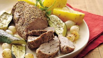 Roasted Pork Tenderloin with Vegetables