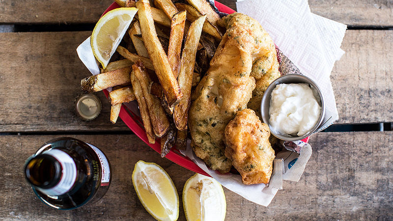 Easy Herb-Battered Fish and Chips