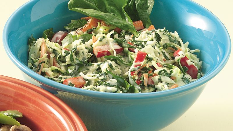 Spinach and Cabbage Slaw