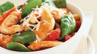 Skinny Tomato-Spinach Chicken Skillet