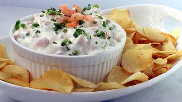 Yucca Chips with Shrimp Dip