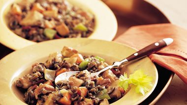 Slow-Cooker Herbed Turkey and Wild Rice Casserole