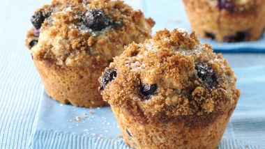 Whole Wheat-Blueberry Muffins