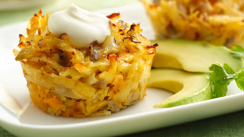 Mexican Hash Brown Breakfast Cupcakes