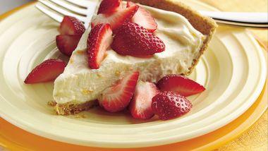 Strawberry-Topped Orange Cream Pie