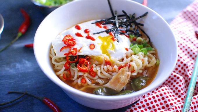 Easy Spicy Chicken Ramen Noodle Soup