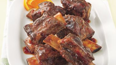 Slow-Cooker Plum Barbecue Short Ribs