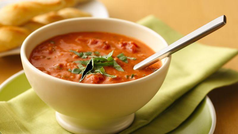 Chunky Tomato-Basil Soup
