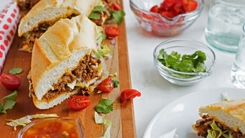 Easy Taco-Stuffed Party Sub