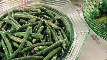 Parmesan-Garlic Butter Green Beans