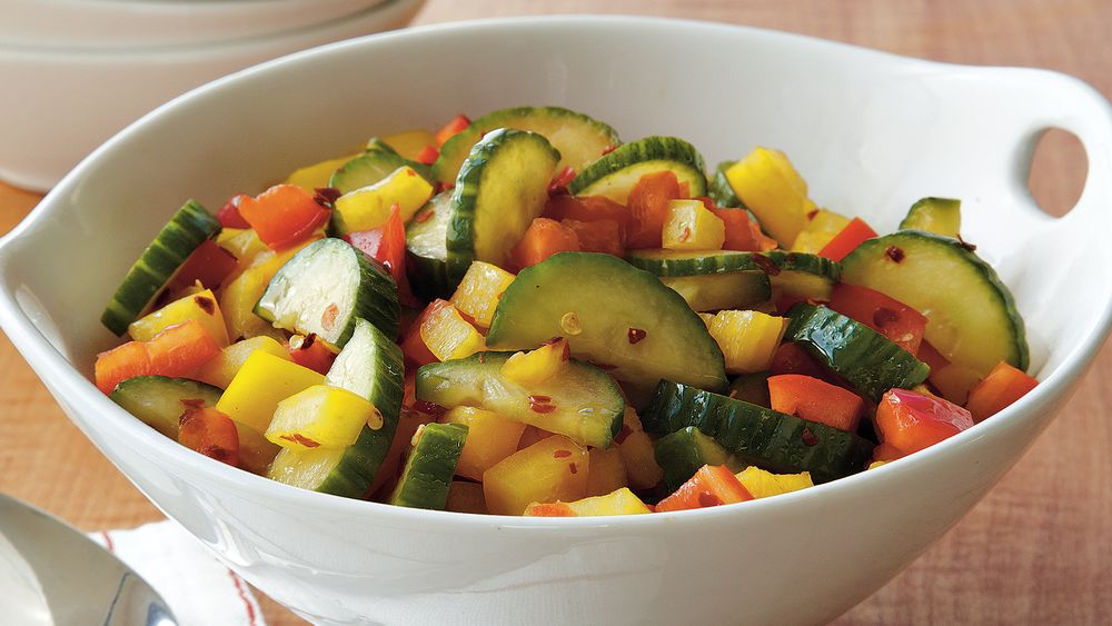 Cucumber Pepper Salad