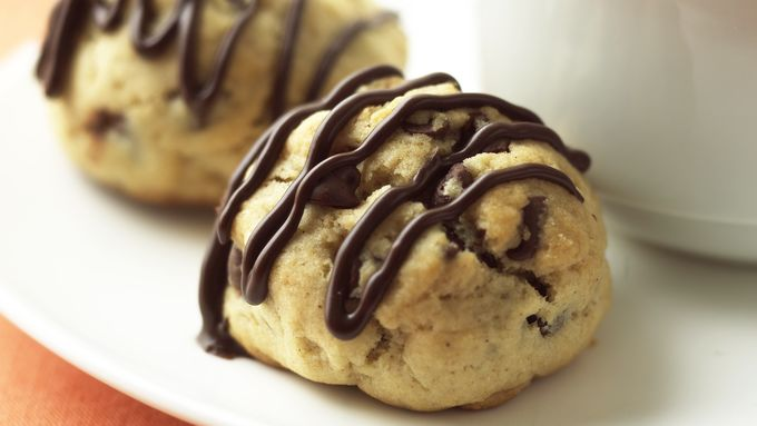 Skinny Chocolate Drizzled Graham Cookies