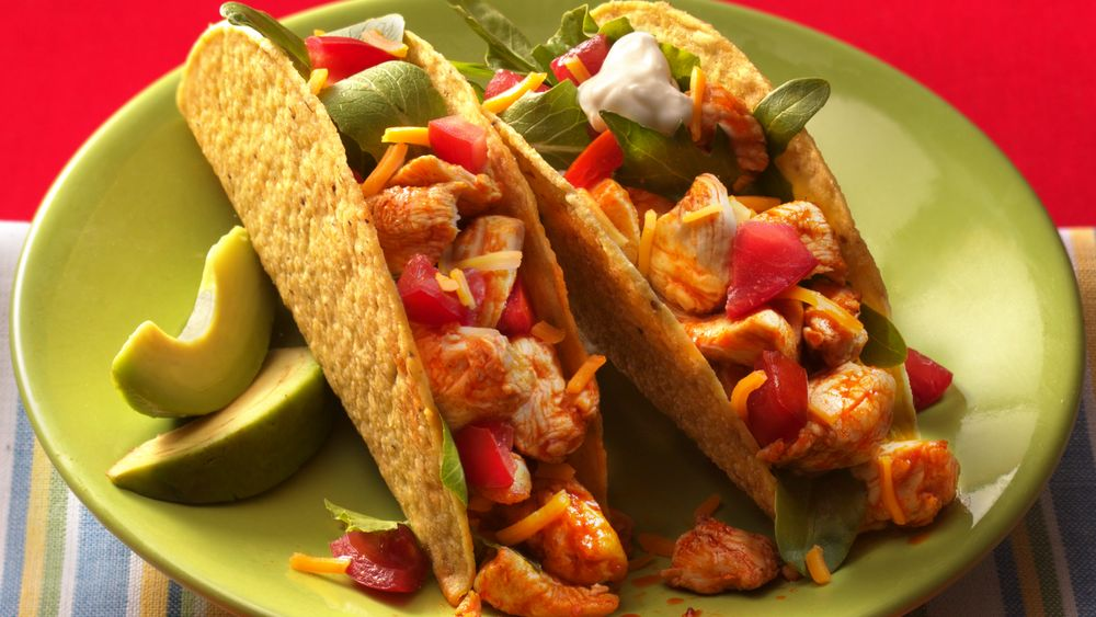 Stand-Up Chicken Tacos