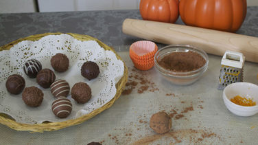 Truffles with Chocolate, Pumpkin and Orange Liqueur