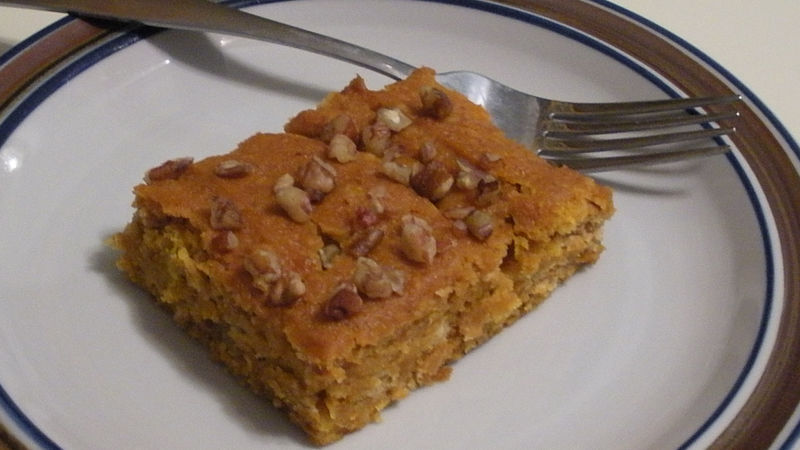 Pumpkin Dessert With Yellow Cake Mix