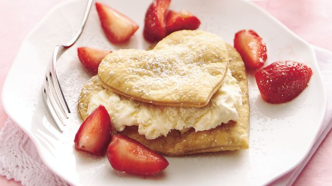 Ice Cream-Strawberry Hearts