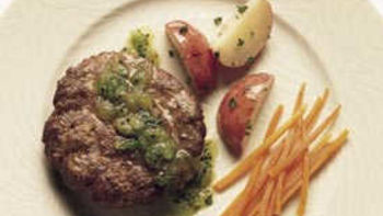 Lamb Patties with Minted Kiwifruit Sauce
