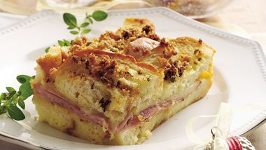Ham and Swiss Brunch Bake