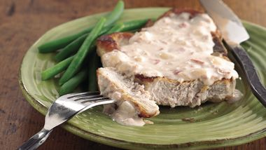 Smothered Chops with Bacon Bits