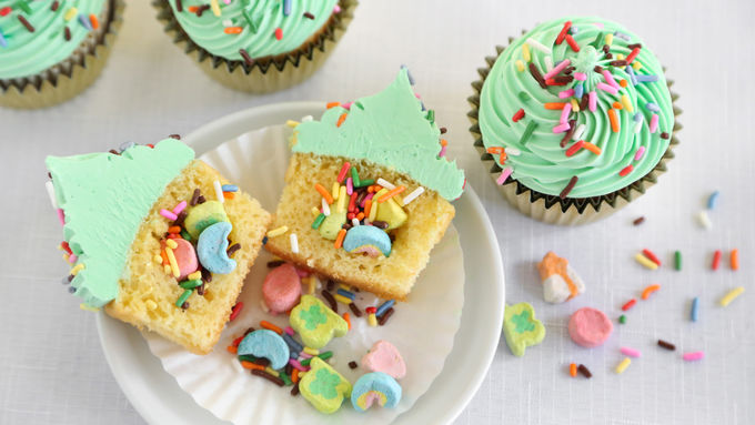 Surprise-Inside St. Paddy's Day Cupcakes