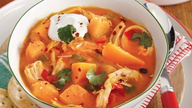 Curried Squash and Turkey Soup