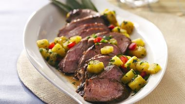 Grilled Caribbean Pork with Pineapple Salsa