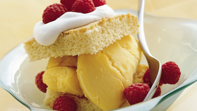 Mango Raspberry Shortcakes