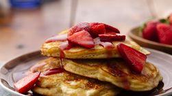 Pancakes con Queso Crema