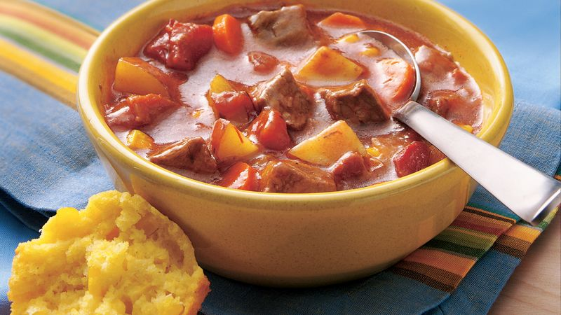 Bacon-Chili Beef Stew recipe from Betty Crocker